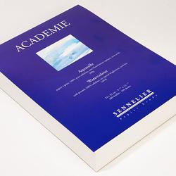 Bloc Aquarelle ''''Académie'''' collé tête