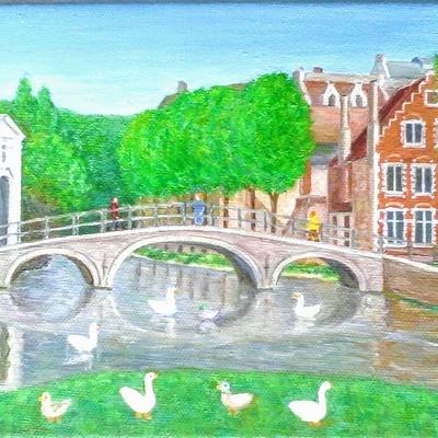 Bruges pont des Amoureux