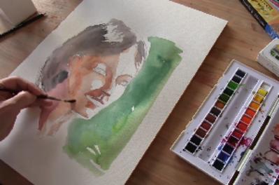 Comment dessiner un visage à l'aquarelle ?