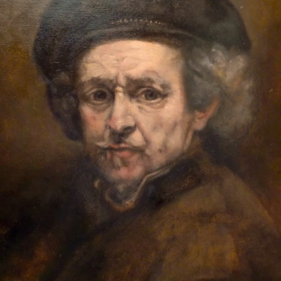 Copy of Rembrandt self-portrait