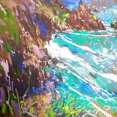 Cornish Plein-Air pastel 32cm