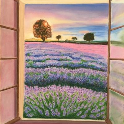 Fenêtre sur lavande
