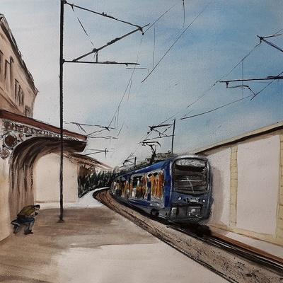 ''La Gare de Six-Fours, La Seyne''