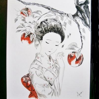 Geisha à la pomme