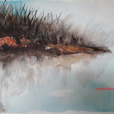 ''L'île fluviale en automne''