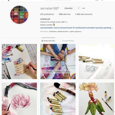 Instagram, Sennelier dépasse la barre des 100000 followers et organise un « Giveaway » pour fêter l'évènement.