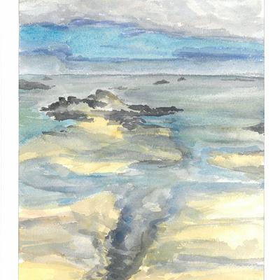 marée basse à Plouguerneau