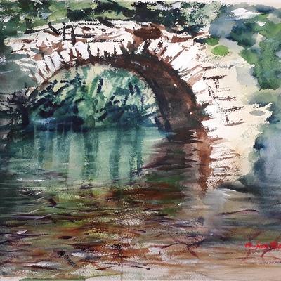 ''Le pont ardéchois''