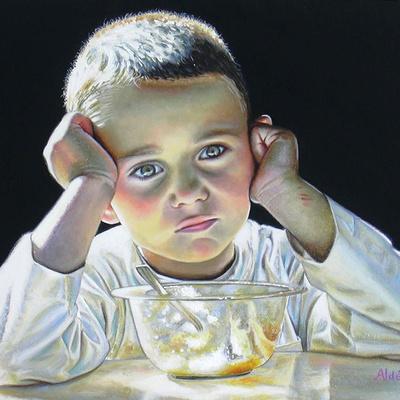 Portrait de Léonard De Vinci enfant.