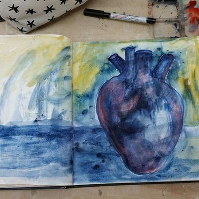 My Purple Heart 2017 By Angela Nagel, Australia