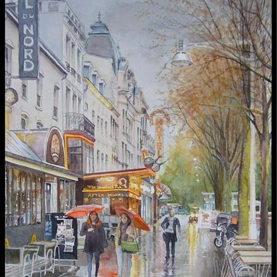 Reims sous la pluie