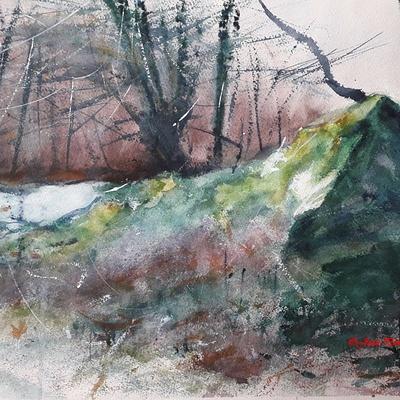 ''Le rocher en forêt''