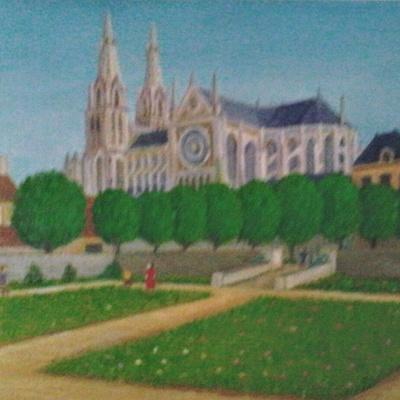 Sées parc d'Argentré et cathédrale
