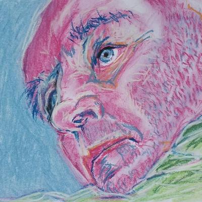 'Toon' (14.8 x 21 cm, soft pastels on 200 gms paper)