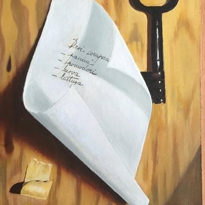 Trompe-l'oeil of the key