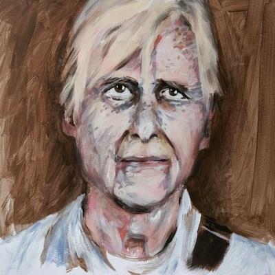 'Willem' (50 x 50 cm, acrylic on canvas)