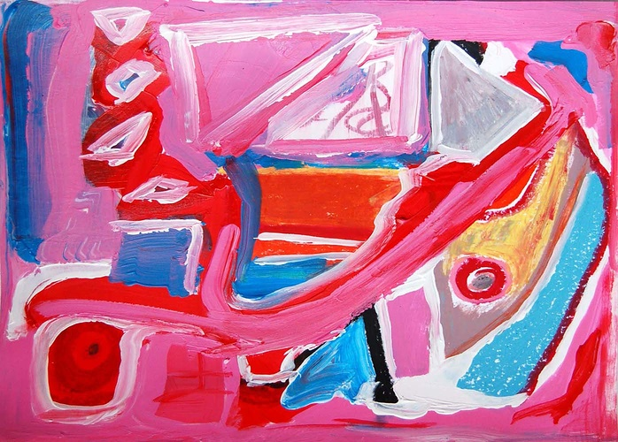 abstract roze 0