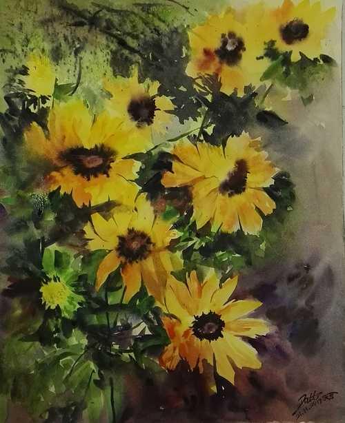 Sun flowers 0