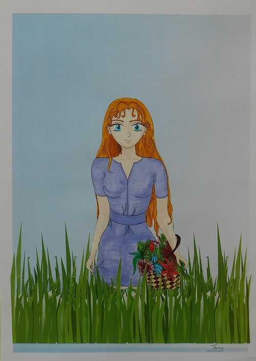 La fille aux fleurs 0