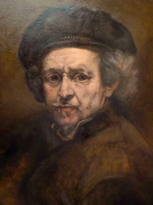 Copy of Rembrandt self-portrait 0