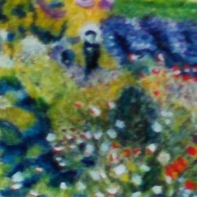 la femme a l ombrelle dans le jardin