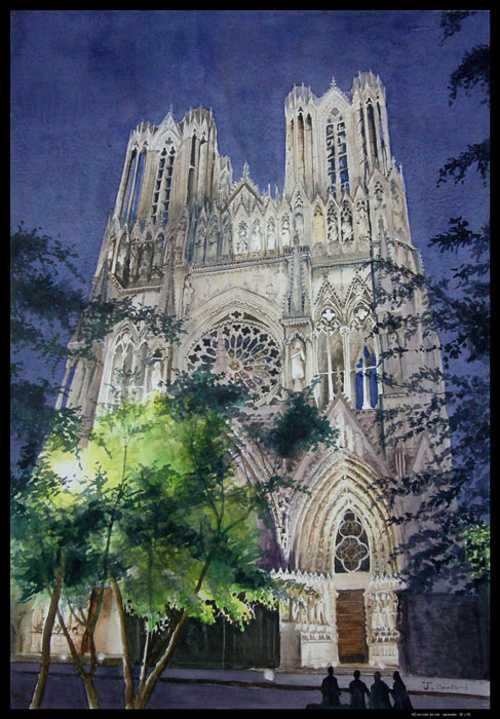 Reims, ND en robe de nuit 0