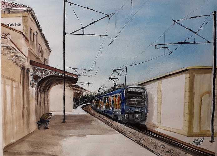 ''La Gare de Six-Fours, La Seyne'' 0