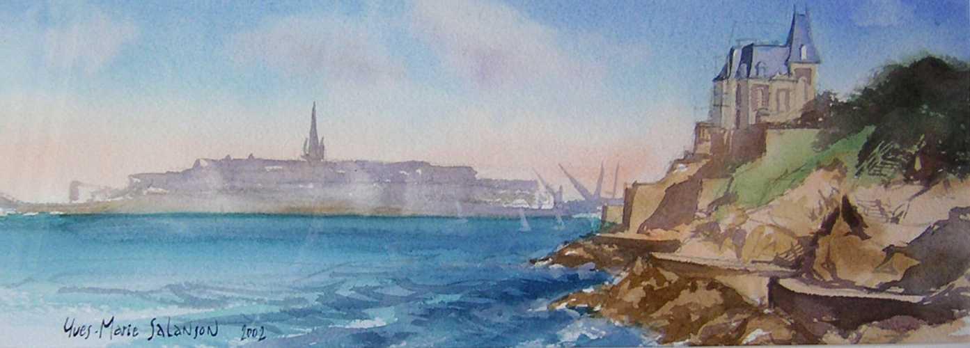 Vu de Saint-Malo depuis Dinard. 0
