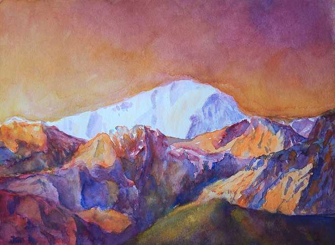 coucher de soleil sur le Mont Blanc 0