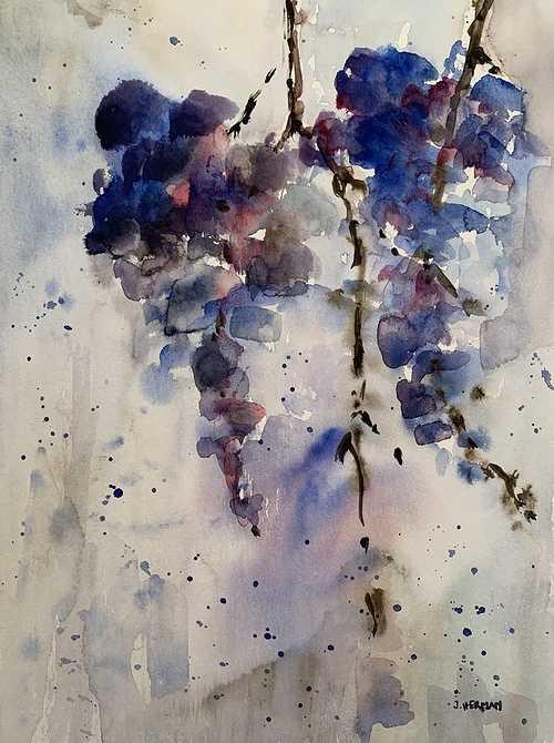 Fleurs bleues de balcon 0