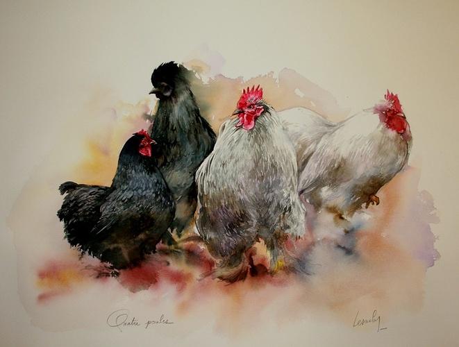 Quatre poules 0