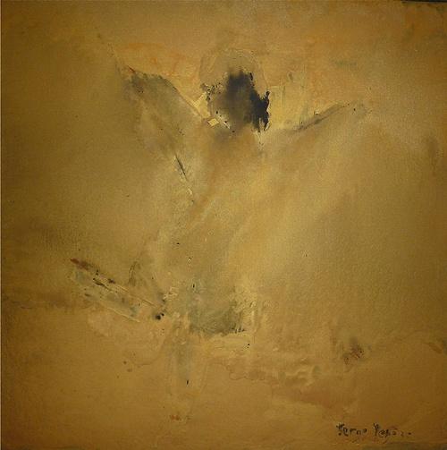 L'Ange Noir - Huile sur toile 100 x 100 - Serge Tenèze 0