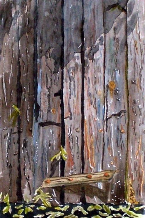 Très vieille porte de chai (détail) 0