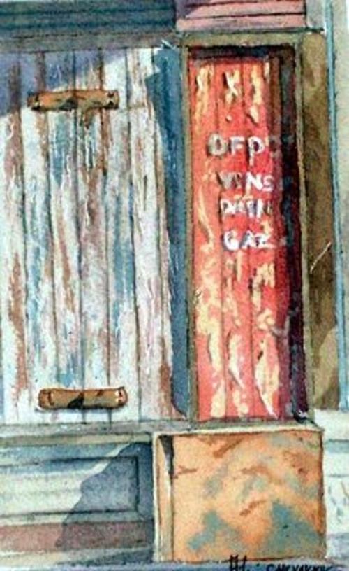 Vestige d'une vieille vitrine à Bordeaux 0