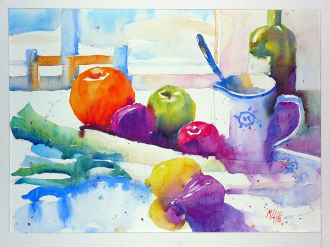 Poireaux et prunes 0