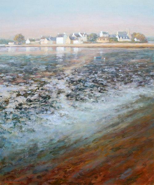 Lumières de novembre, marée basse à St Cado 0