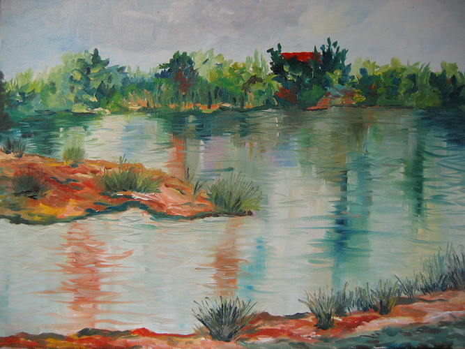 Provence -l'étang des jardins- 0