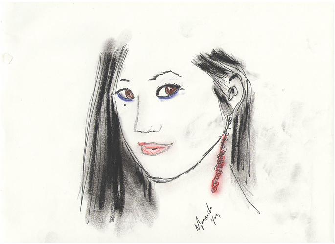 La fille avec les perles roses 0