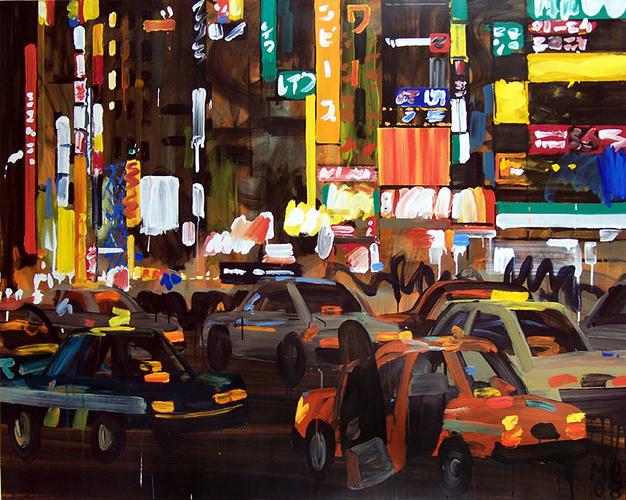 Nuit Shinjuku Taxis02 100F 0