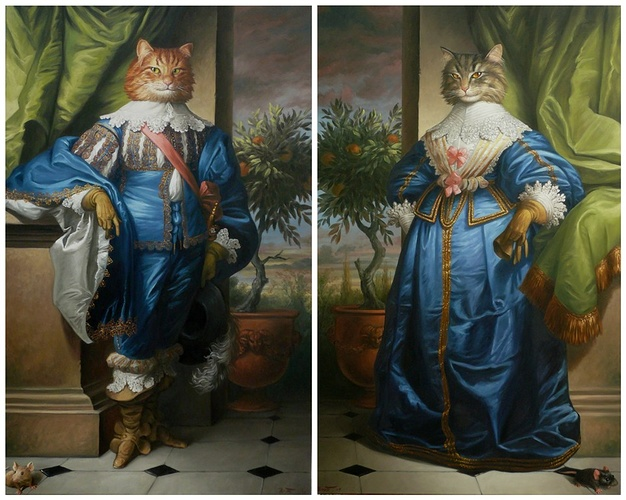 MONSIEUR ET MADAME CHAT BOTTE 0