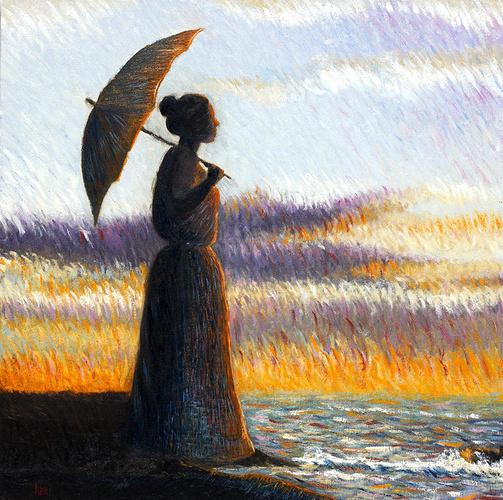 Dama con ombrellino - Dame avec parasols 0