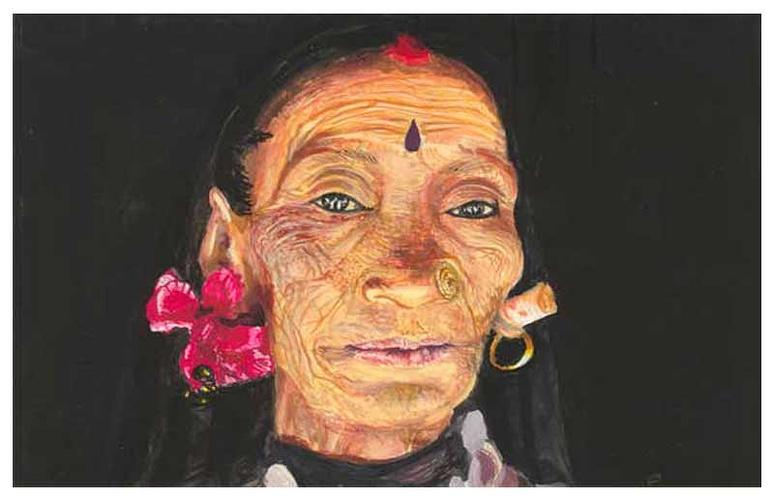 vieille femme népalaise 0