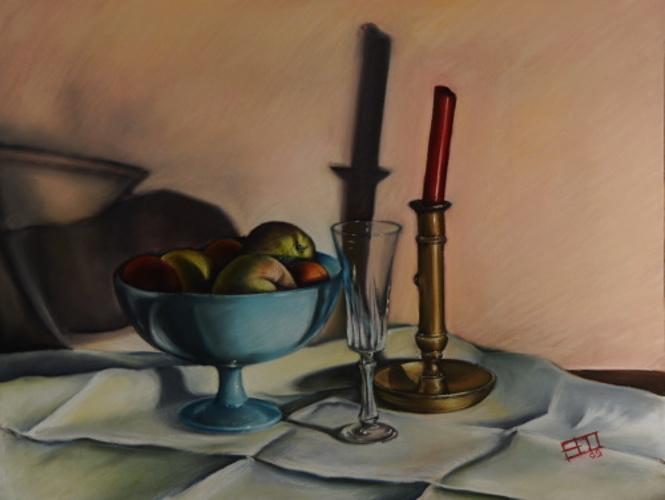 Compo fruits, cristal, bronze et cire 0