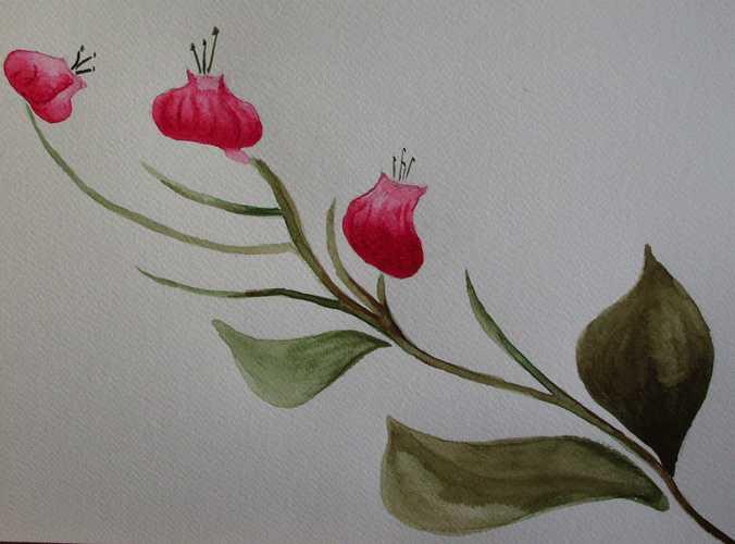 Trois fleurs 0