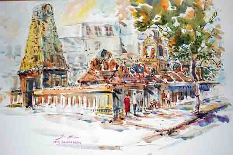 hindu temple on si lom road bkk 0