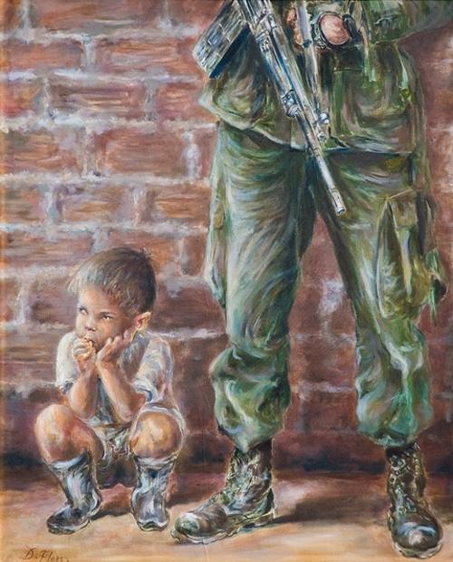 Niño en medio al conflicto 0