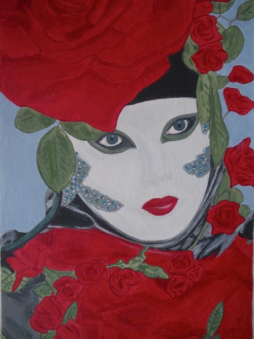 masque à la rose 0