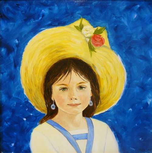 La petite fille au chapeau de maman 0