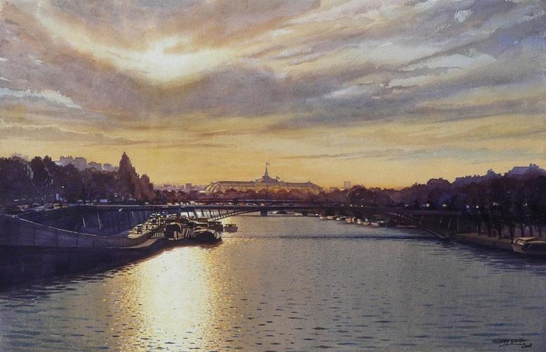 Soleil couchant sur le Grand Palais 0