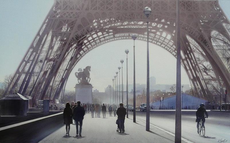 La Tour Eiffel et le cycliste 0